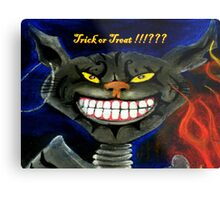 Trick Or Treat !!!??? Metal Print