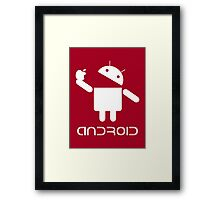 Android Eat Apple Framed Print