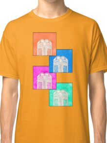British Phone Booth Pop Art Style Classic T-Shirt