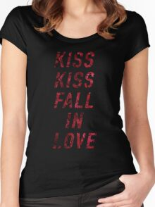 Kiss Kiss Fall In Love Women's Fitted Scoop T-Shirt
