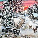 rosy winter sunrise by LoreLeft27
