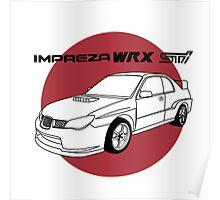 Subaru WRX Impreza STI JDM Decal Poster