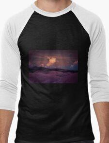 Purple Cloud Men's Baseball ¾ T-Shirt