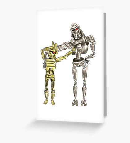 Cute Cylon Siblings Greeting Card