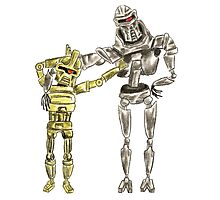 Cute Cylon Siblings Photographic Print