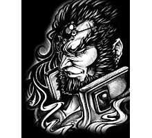BW Ganondorf Profile Photographic Print