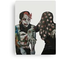 Mindless zombies walking around... Canvas Print