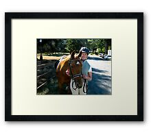 Finesse and Karen Pose Framed Print