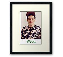 Pete Davidson-- Weed Framed Print