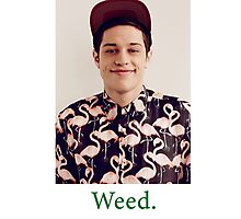 Pete Davidson-- Weed Photographic Print