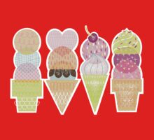 Ice Cream Stamps Kids Clothes
