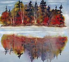 Autumn Reflections (Near Algonquin, Ontario) by bevmorgan