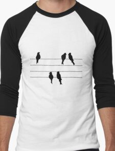 Birds on a Wire Men's Baseball ¾ T-Shirt
