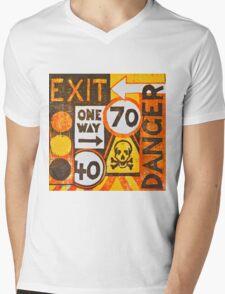 Sign Board Mens V-Neck T-Shirt