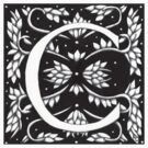 William Morris  Letter C Sticker by Donna Huntriss