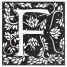 William Morris Letter F Sticker by Donna Huntriss