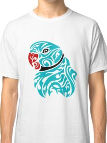Blue ringneck parrot tattoo Classic T-Shirt