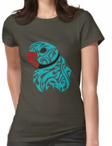 Blue ringneck parrot tattoo Womens Fitted T-Shirt