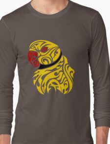 Lutino ringneck parrot tattoo Long Sleeve T-Shirt
