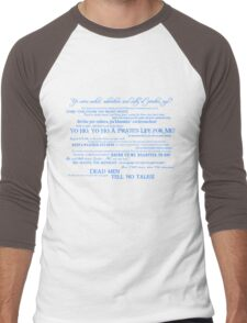 Dress Up, Me Hearties, Yo Ho! (White/Blue) Men's Baseball ¾ T-Shirt