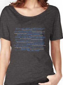 Dress Up, Me Hearties, Yo Ho! (White/Blue) Women's Relaxed Fit T-Shirt