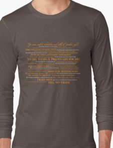 Dress Up, Me Hearties, Yo Ho! (White/Orange) Long Sleeve T-Shirt