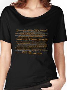 Dress Up, Me Hearties, Yo Ho! (White/Orange) Women's Relaxed Fit T-Shirt