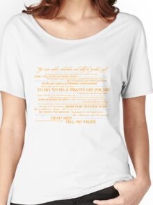 Dress Up, Me Hearties, Yo Ho! (White/Orange) Women's Relaxed Fit T-Shirt