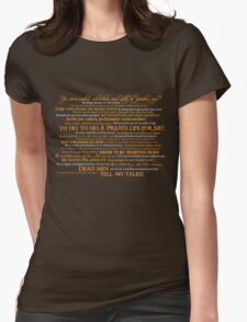 Dress Up, Me Hearties, Yo Ho! (White/Orange) Womens Fitted T-Shirt