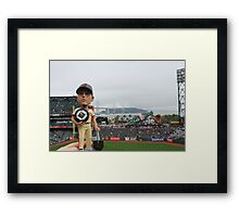Buster Posey MVP at AT&T Park Framed Print