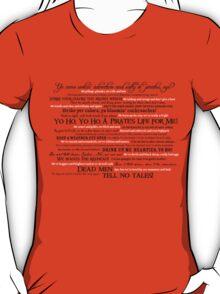 Dress Up, Me Hearties, Yo Ho! (Black/White) T-Shirt
