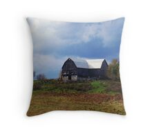 A Barn In Trent Hills Throw Pillow