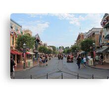 Main Street USA Disneyland Canvas Print