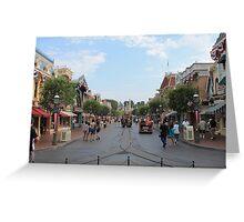 Main Street USA Disneyland Greeting Card