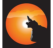 Wolf Above the Sun. Photographic Print