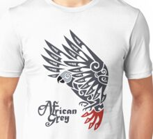 African grey parrot tribal tattoo Unisex T-Shirt
