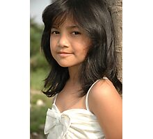 little girl with nice and cute face Photographic Print