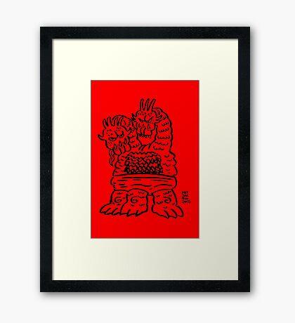 DAIKAIJU SULTANA Framed Print