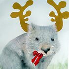 """Christmas Wombat"" by sooziii"