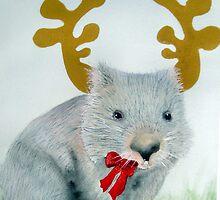 """""""Christmas Wombat"""" by sooziii"""
