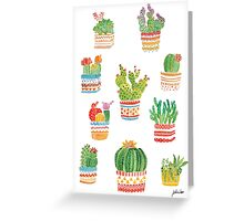 Succulents Greeting Card