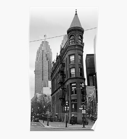 Church St. Toronto Black and White Poster