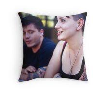 corner couple Throw Pillow