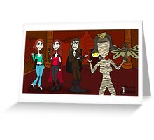 Vampires Need Love Too! - UnDead Blues Music Arena patrons Greeting Card