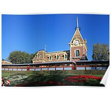 Disneyland Main Street Train Station Poster