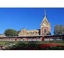 Disneyland Main Street Train Station Photographic Print