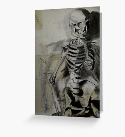 Sitting Skeleton Greeting Card