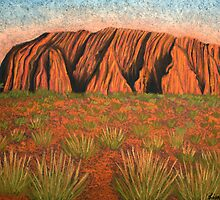 Uluru - Heart of Australia by Lisa Frances Judd ~ QuirkyHappyArt