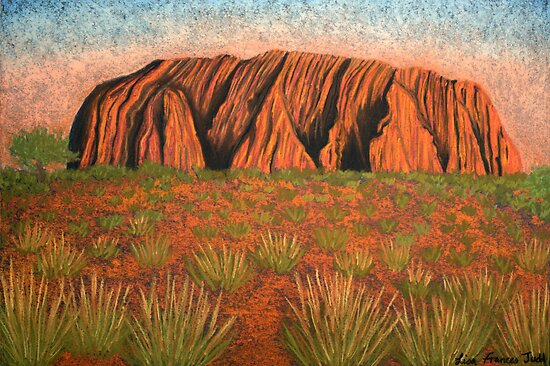Uluru - Heart of Australia by Lisa Frances Judd~QuirkyHappyArt