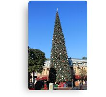 Disneyland Christmas Tree Canvas Print